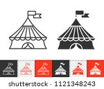 circus tent black linear and...   Shutterstock .eps vector #1121348243