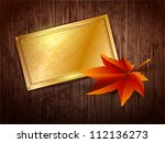 gold frame with space for text... | Shutterstock .eps vector #112136273