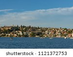 suburb cityscape with... | Shutterstock . vector #1121372753