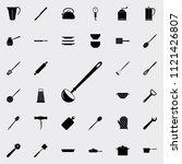 ladle icon. detailed set of... | Shutterstock .eps vector #1121426807