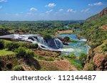 waterfall of crocodile river... | Shutterstock . vector #112144487