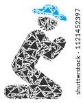 gentleman pray collage of...   Shutterstock .eps vector #1121452397