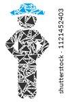 gentleman akimbo collage of...   Shutterstock .eps vector #1121452403