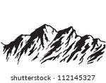 mountain range isolated on... | Shutterstock .eps vector #112145327