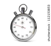 isolated stopwatch on white.... | Shutterstock . vector #112153853