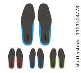 set of shoes insoles | Shutterstock .eps vector #1121553773