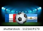 football stadium with the ball... | Shutterstock .eps vector #1121619173