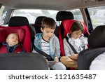 three children  boys  siblings  ... | Shutterstock . vector #1121635487