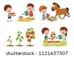 vector illustration of kid... | Shutterstock .eps vector #1121657507