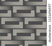seamless geometric design.... | Shutterstock .eps vector #1121696957