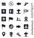 set of vector isolated black... | Shutterstock .eps vector #1121726177