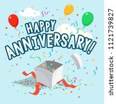 happy anniversary party card... | Shutterstock .eps vector #1121739827