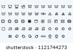 laundry vector web icons set... | Shutterstock .eps vector #1121744273
