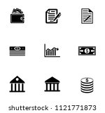 vector financial icons set  ... | Shutterstock .eps vector #1121771873