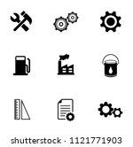 vector industrial icons set  ... | Shutterstock .eps vector #1121771903