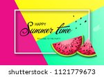 summer time banner with pieces... | Shutterstock .eps vector #1121779673