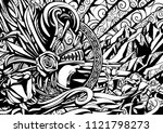 screaming valkyrie against the... | Shutterstock . vector #1121798273