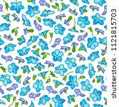 vector floral seamless pattern. ... | Shutterstock .eps vector #1121815703