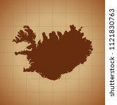 map of iceland   Shutterstock .eps vector #1121830763