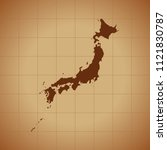 map of japan   Shutterstock .eps vector #1121830787
