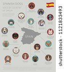 dogs by country of origin.... | Shutterstock .eps vector #1121833493