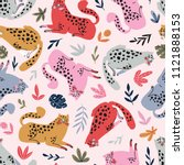 vector seamless pattern with... | Shutterstock .eps vector #1121888153