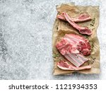 lamb chops isolated on white   Shutterstock . vector #1121934353