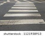 pedestrian crossing is a place... | Shutterstock . vector #1121938913