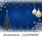 christmas blue design with...   Shutterstock .eps vector #1121946593