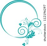 decorative oval frame for... | Shutterstock .eps vector #112196297