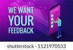 isometric big data analysis and ... | Shutterstock .eps vector #1121970533