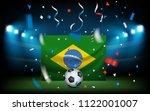 football stadium with the ball... | Shutterstock .eps vector #1122001007