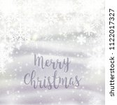 merry cristmas. beautiful... | Shutterstock . vector #1122017327