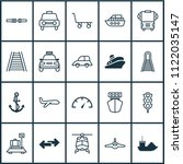 shipping icons set with ship... | Shutterstock .eps vector #1122035147