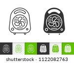 heat fan black linear and...   Shutterstock .eps vector #1122082763