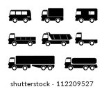 transport truck icons | Shutterstock .eps vector #112209527