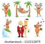 Christmas holiday on the beach. - stock vector