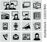 communication icons | Shutterstock .eps vector #112217843