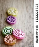 fruit jelly roll. made with... | Shutterstock . vector #1122225923