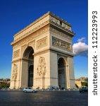 the triumphal arch  arc de... | Shutterstock . vector #112223993
