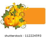 greeting card for halloween | Shutterstock . vector #112224593