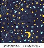 seamless starry sky pattern....   Shutterstock .eps vector #1122260417