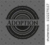 adoption black emblem | Shutterstock .eps vector #1122275117