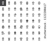 professions vector icons set ... | Shutterstock .eps vector #1122288617