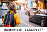 back side asian woman travel...   Shutterstock . vector #1122306197
