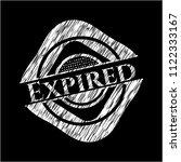 expired chalk emblem written on ... | Shutterstock .eps vector #1122333167