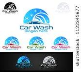 car wash logo  cleaning car ... | Shutterstock .eps vector #1122345677