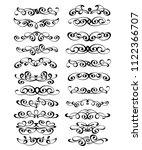 calligraphic elegant elements... | Shutterstock .eps vector #1122366707