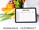 diet plan healthy eating ... | Shutterstock . vector #1122381617