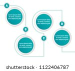 infographic four step vector... | Shutterstock .eps vector #1122406787